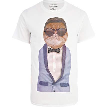 Mačja moški T-shirt
