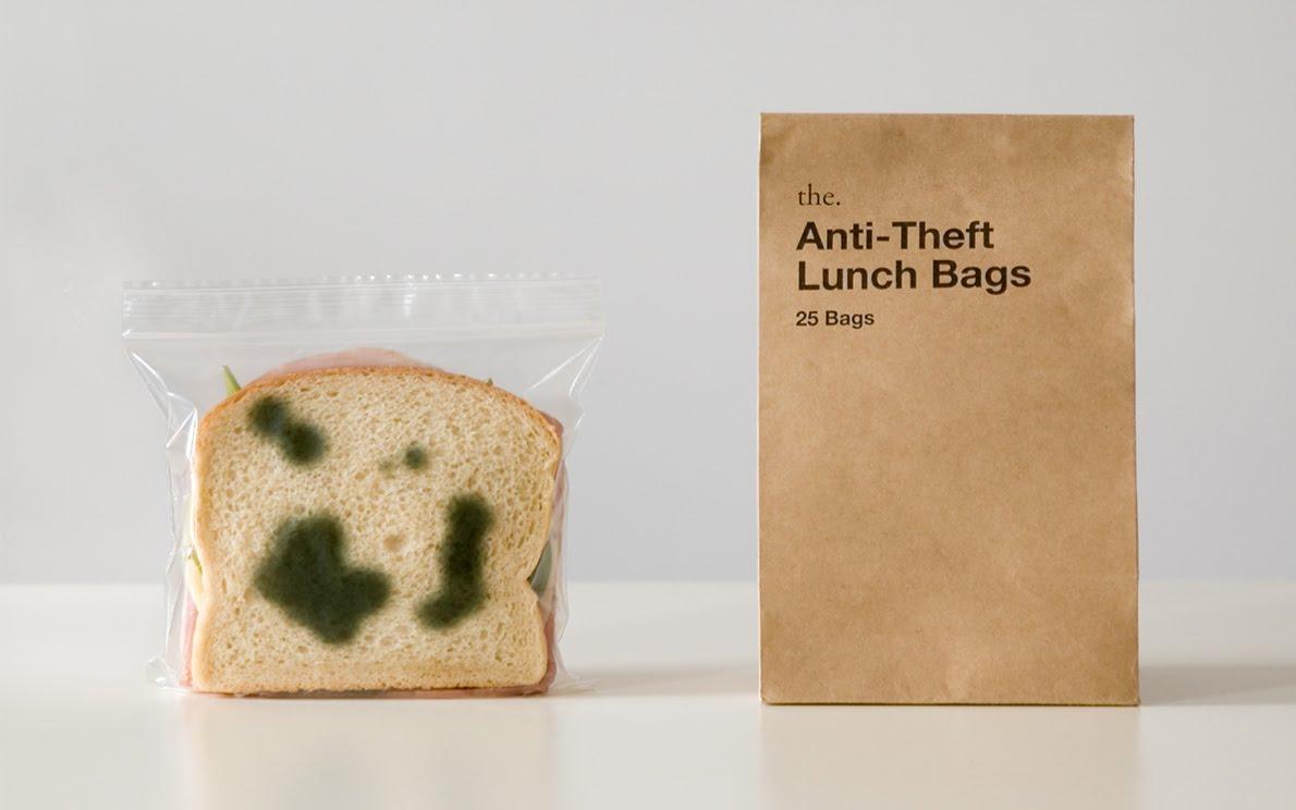 """""""Plesnive"""" vrečke za kosilo."""