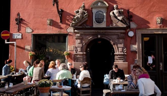 Srednjeveška arhitektura stockholmskega zgodovinskega centra mesta. Foto:  Edition Cnn