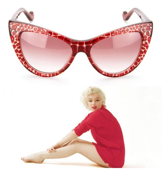 Kolekcija The Marilyn je navdih igralkinih najljubših očal Foto: Buro 24/7