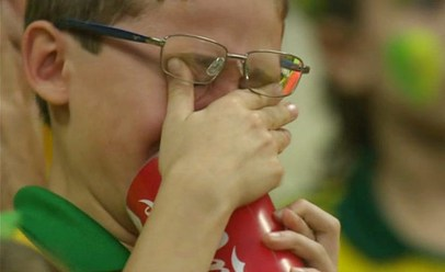 Brazil fan crying after the fourth goal went in
