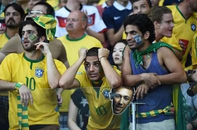 Fans of Brazil react
