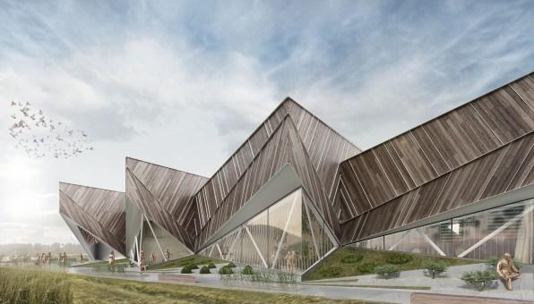 Zasnova paviljona, ki bo Slovenijo zastopal na razstavi Expo 2015 v Milanu.