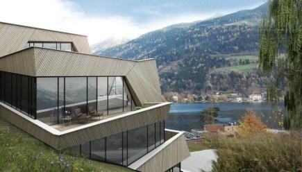 Večstanovanjska hiša v Avstriji.