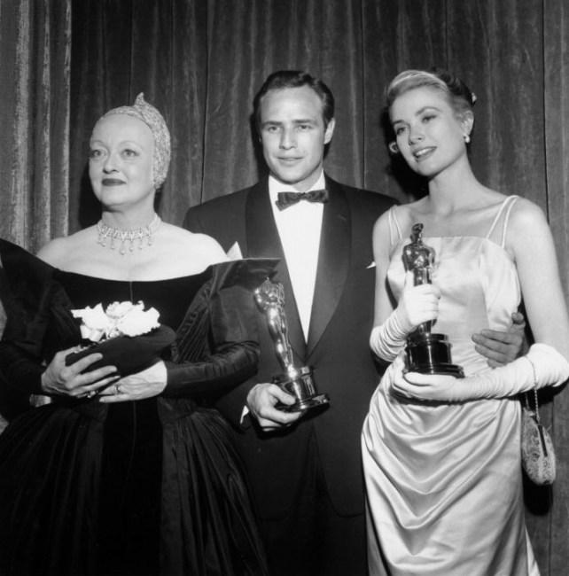 Bette Davis, Marlon Brando in Grace Kelly