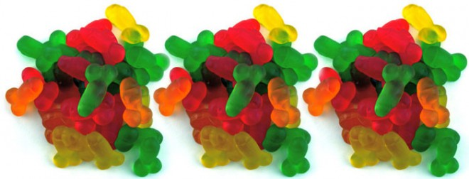 Gumijasti bonboni se po okusu ne razlikujejo od ostalih tovrstnih bonbonov, zato pa so precej provokativni.