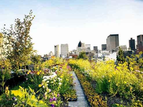 Vrt na vrhu penthousa na Grand Street, New York