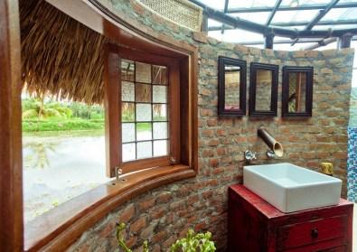 Hišica iz bambusa na Baliju