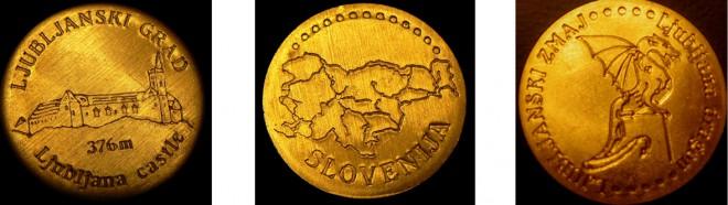 Spominski kovanci z brezčasnimi motivi.