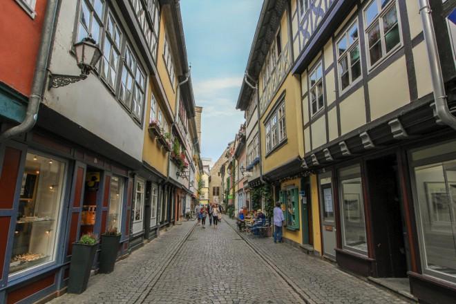 Erfurt je kraj ličnih pisanih uličic