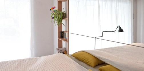 BedUp je postelja, ki se pospravi pod strop.