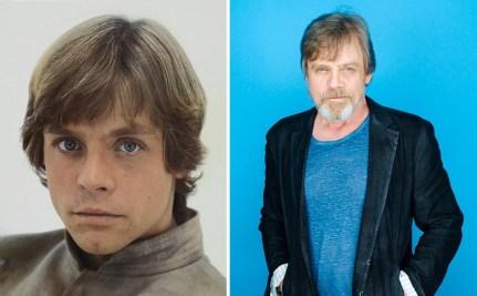 Mark Hamill kot Luke Skywalker, 1980 in 2015