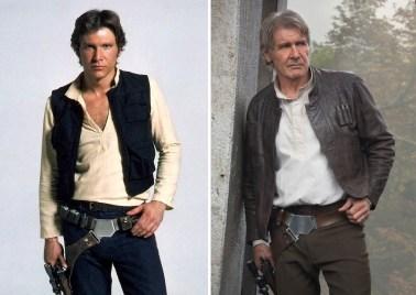 Harrison Ford kot Han Solo, 1980 in 2015