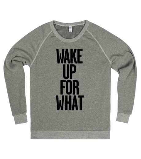 Majica s pomembnim vprašanje: ''Zakaj bi se sploh zbudil?''