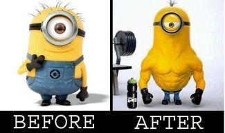 Prej in potem: Pred in po obisku fitnesa