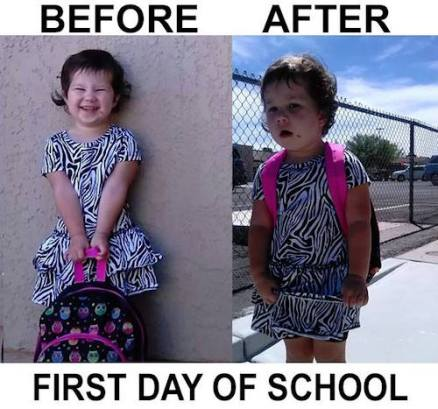 Prej in potem: Prvi šolski dan