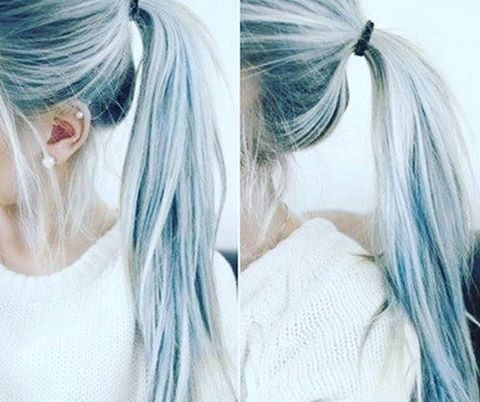 Trend barvanja las - denim hair