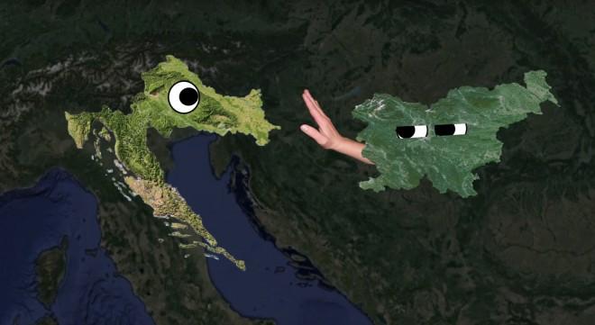 V učni uri iz geografije o Hrvaški je omenjena tudi Slovenija.