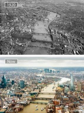 London (VB) – leta 1920 in danes