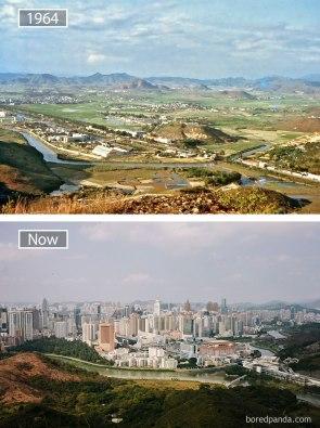 Šandzem (Kitajska) – leta 1964 in danes