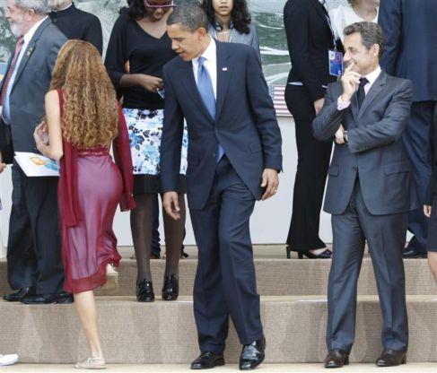 Barack Obama in Nicholas Sarkozy