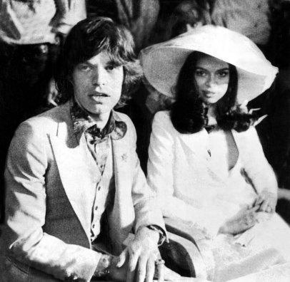 Mick Jagger in Bianca Perez-Mora Macias na poroki leta 1971