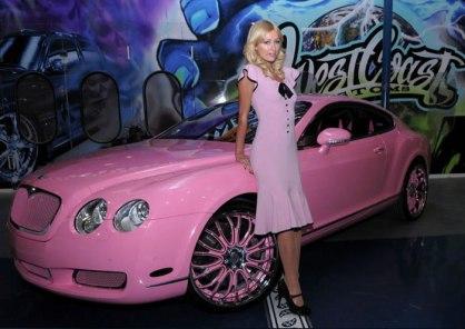 Paris Hilton – Bentley GT Continental po naročilu (cena: 285 tisoč ameriških dolarjev)