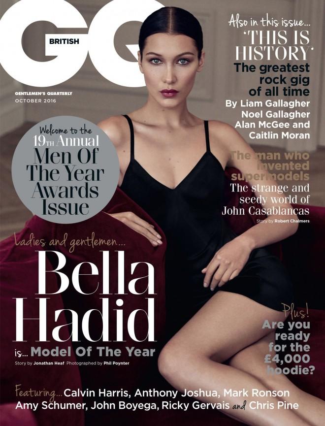 Bella Hadid na naslovnici okrobrske izdaje revije GQ.