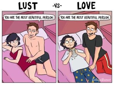 Lust vs Love: ljubezen vs poželenje