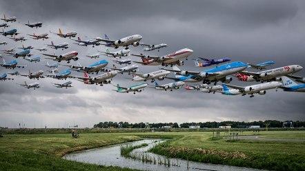 Letališče Schiphol v Amsterdamu (Nizozemska)