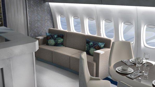 Kabina najbolj luksuznega potniškega letala na svetu