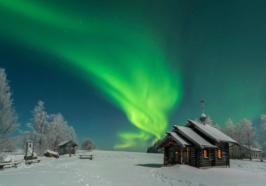 Laponska v zimskem času