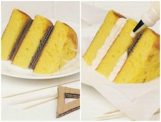 Karton znotraj torte