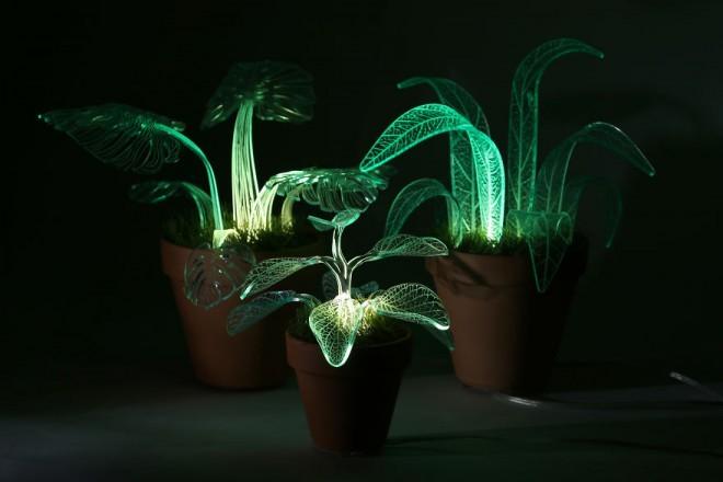 Umetne rastline, po katerih se pretaka svetloba.