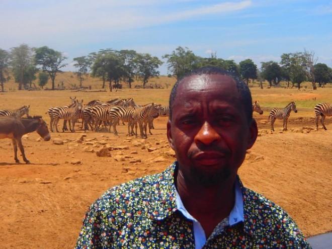 To je Patrick Kinolzo Mwalua, 'zavetnik živali'.