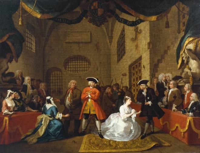 Slika s sceno iz Beraške opere  (William Hogarth, Tate Britain)