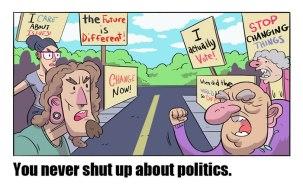 Oboji kar ne nehajo govoriti o politiki.