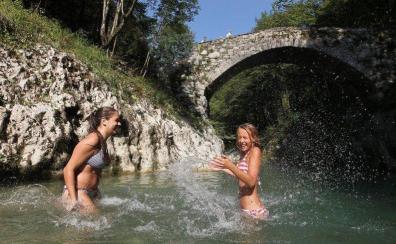 Naravna kopališča v Sloveniji: naravno kopališče na reki Nadiži