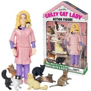 Osamljena gospa z mačkami