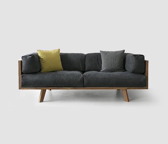 Nutsandswoods: Kavč iz hrastovega lesa in naravnega bombaža
