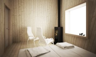 Arctic Bath: plavajoči hotel na Švedskem