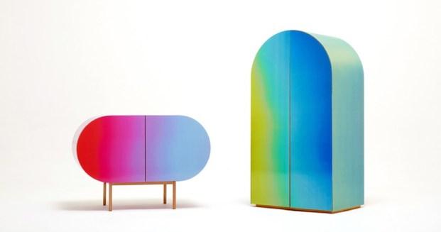 Pohištvo, ki spreminja barvo.