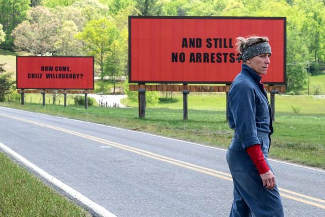 Najboljši film v kategoriji drame je Trije plakati nad mestom.