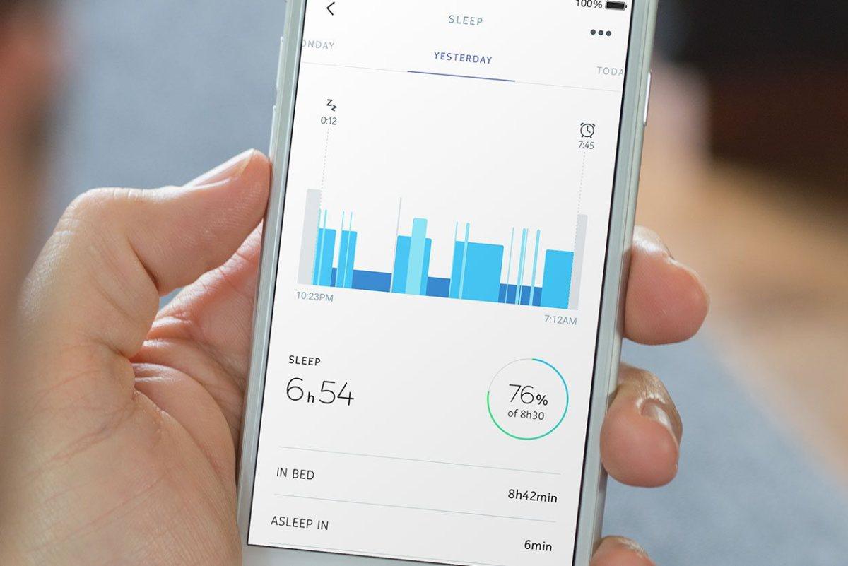 Informacije o spanju bomo prejemali preko aplikacije Nokia Health Mate.