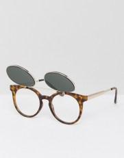 Moška modna sončna očala 2018: sončna očala, ki se pripnejo, Bershka