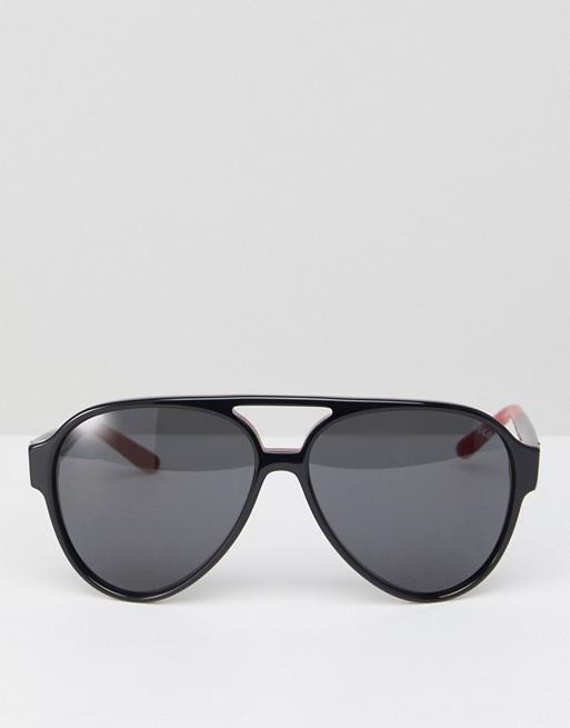 Moška modna sončna očala 2018: (pre)velike aviatorke, Polo Ralph Lauren 0PH4130