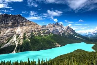 Jezero Peyto, Alberta, Kanada