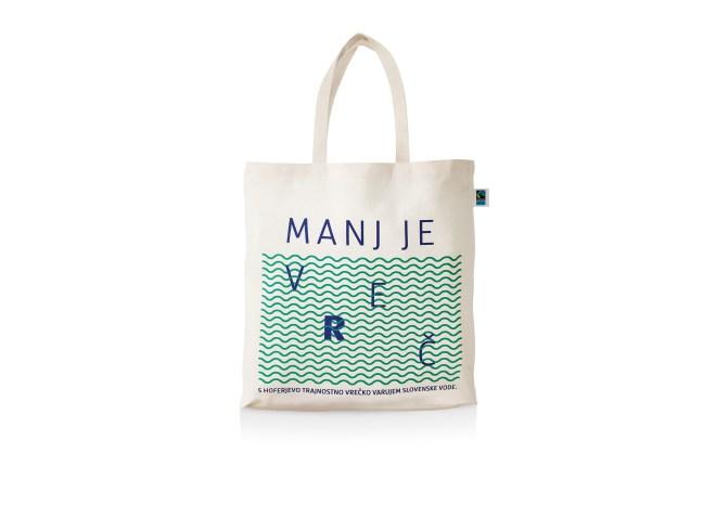 HOFER že od začetka leta 2018 spodbuja k (ponovni) uporabi trajnostne vrečke »Manj je v(r)eč«.