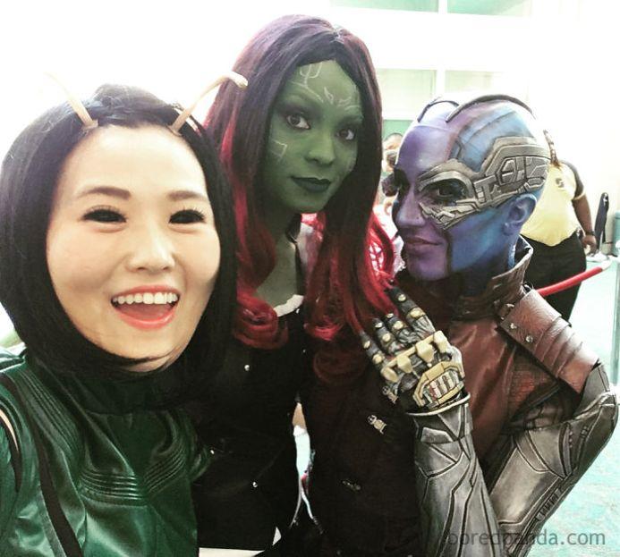 Mantis, Gamora in Nebula, Marvel