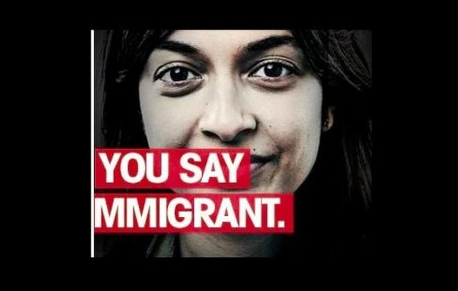 V reklami za priseljevanje migrantov.